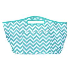 Mainstreet Collection Insulated Beverage Bucket Prim & Preppy (Teal & White Chevron) MainStreet Collection