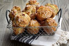 Peach and Brown Sugar Muffins - It's best to use ripe fruit for these not-too-sweet muffins, of course, but even early-season peaches will work......