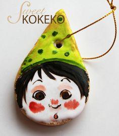Galletas Navidad 2014 - Elfo de Papá Noel Christmas Cookies 2014 - Santa Claus Elf http://www.sweetkokeko.com