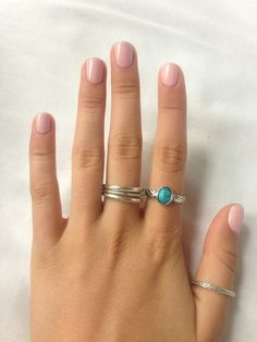 Cute accessories. Turquoise rings will always be a favourite. <3