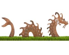 SEA SERPENT GARDEN SCULPTURE | garden stake, monster sculpture, dragon | UncommonGoods