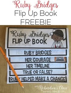 Ruby Bridges Activity is a perfect black history month activity! Simple to create! I love that I can easily integrate this into writing, too!