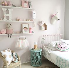 cute and girly room! Super cute and girly room!Super cute and girly room! Big Girl Bedrooms, Little Girl Rooms, Girls Bedroom, Bedroom Decor, Bedroom Ideas, Trendy Bedroom, Bedroom Designs, Little Girls Room Decorating Ideas Toddler, Girl Toddler Bedroom