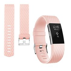 Vancle Bands for Fitbit Charge 2 Special Edition Adjustable Replacement Accessory Sport Wrist Band No Tracker 1PC Blush Pink Large *** Find similar products by clicking the VISIT button
