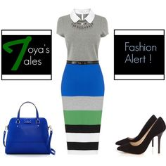 """""""Incorporating Stripes Into Your Office Attire"""" by latoyacl on Polyvore"""