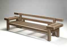 Garden bench / contemporary / teak / with backrest NAR 265 by Louis Benech Royal Botania