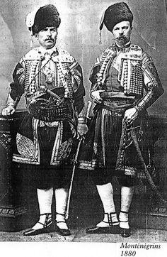Ceremonial costumes from Montenegro, circa 1880.