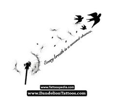 Small Dandelion Tattoo 11 - http://dandeliontattoos.com/small-dandelion-tattoo-11/