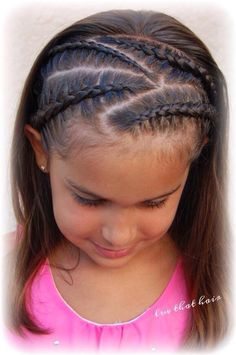 Luv that hair - Kinderfrisuren Lil Girl Hairstyles, Princess Hairstyles, Pretty Hairstyles, Braided Hairstyles, Curly Hair Styles, Natural Hair Styles, Girl Hair Dos, Hair Due, Girls Braids