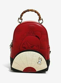 Loungefly Disney Mulan Fan Pin Collector Mini Backpack - BoxLunch Exclusive - New Ideas Disney Channel, Toy Story Slinky, Punk Disney Princesses, Princess Disney, Cute Mini Backpacks, Mini Mochila, Disney Purse, Disney Handbags, Novelty Bags