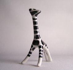 Vintage Cmielow Poland Porcelain Giraffe - another sick giraffe