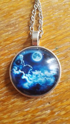 The Moon At Night Necklace by AwesomeOddities on Etsy