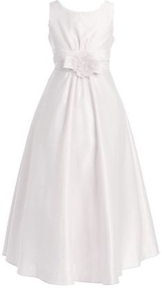 1st Holy Communion Dress... KID Collection Girls Simply Stunning Dress 10  White ( 38597f471