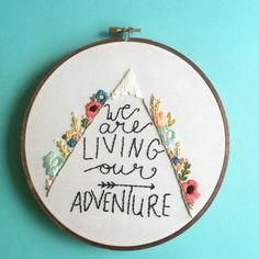 We are living our adventure 7 hoop by FrancesBluebird on Etsy