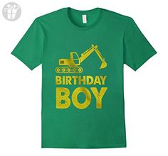 Mens Birthday Boy Tractor  Construction Party T Shirt 2XL Kelly Green - Birthday shirts (*Amazon Partner-Link)