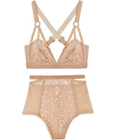 Nude Sabel Hi Waist Brief and Cut-out Bra by Lonely
