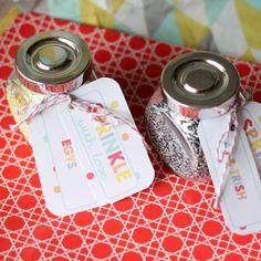 "Sprinkle with love: Each family took home a jar of sprinkles- the labels read ""Sprinkle with Love"" and each family's name."