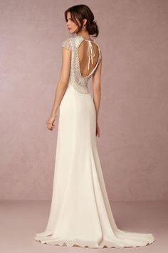 BHLDN Dylan Gown in  Bride Wedding Dresses Back Detail at BHLDN