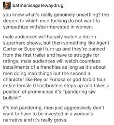 Nailed it. We train boys basically from birth to avoid female stories of any kind and that hurts ALL of us.