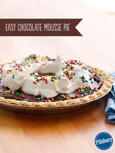 This kid-approved pie comes together with just four ingredients. Little hands can help make the pudding filling! It's the perfect easy dessert for a fun celebration of a birthday or big event!