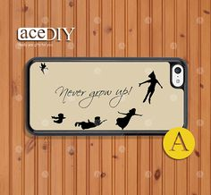 Never grow up, Peter Pan, Phone cases, iPhone 5c case, Case For iPhone, Skins, Cover Skin --C50431 on Etsy, $7.99