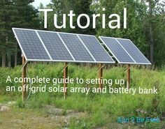 This is a complete guide to setting up your solar power. …