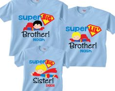 Matching Biggest Brother Big Sister Little Brother por TheCuteTee