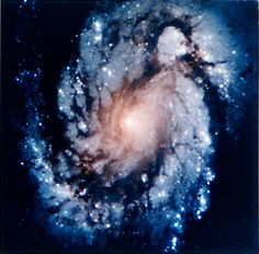 Image of the core of the galaxy M100 from the Hubble Space Telescope