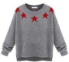 Pin for Later: Amerikanischer Patriotismus sah noch nie besser aus ChicNova Star Pullover ChicNova Five-pointed Stars Printed High Low Hem Pullover ($51)