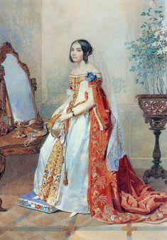 1839, russische Hofkleidung