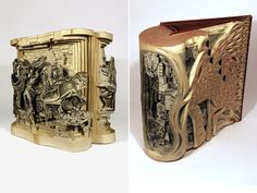 ArtistBrian Dettmer alters pre-existing books one page at a time using knives, tweezers and surgical tools.