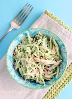 Easy Broccoli Slaw Recipe - a low carb, gluten free, dairy free, keto friendly side dish recipe from ibreatheimhungry.com