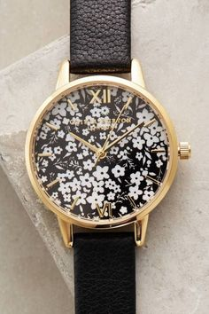 Ditzy Floral Watch by Olivia Burton  I used to like snazzy unique watches like this #accessoriescourse