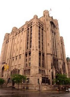 Detroit's Masonic Temple - the LARGEST Masonic temple in the world. Inside there is not only the temple and multiple lodges, but also a pool, the roller derby rink, bowling alley, three theaters, three ballrooms, a hotel, offices an loads more. It is one of the most stunning building inside and out.