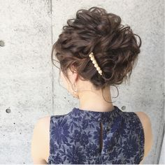 The Most Beautiful Wedding Hairstyles Dance Hairstyles, Party Hairstyles, Bride Hairstyles, Short Curly Updo, Medium Hair Styles, Curly Hair Styles, Easy Hair Cuts, Mother Of The Bride Hair, Bridal Hairdo