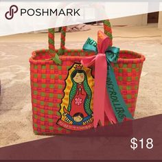 Virgin Mary bag Woven plastic- bought in Mexico Distroller Bags