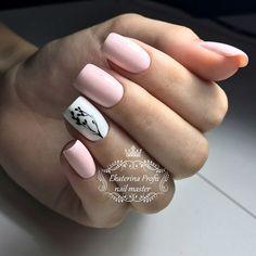 French Acrylic Nails, Pink Acrylic Nails, Fancy Nails Designs, Beautiful Nail Designs, Luminous Nails, Nails Now, Work Nails, Cute Toe Nails, Nail Tattoo