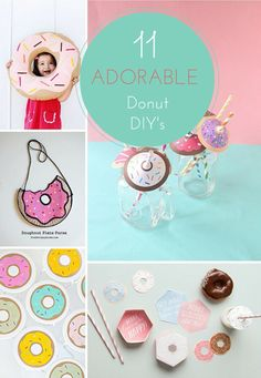 Adorable donut crafts to make for the kids. Perfect for National Donut Day!