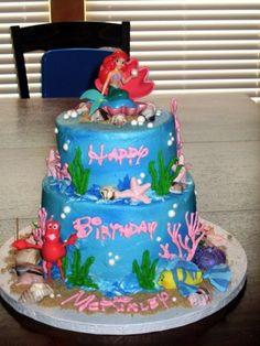 Little Mermaid Birthday Cake By MooieKatooie on CakeCentral.com