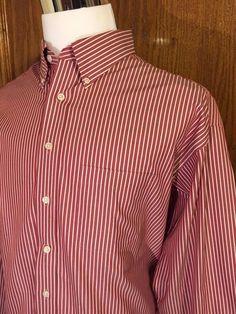 Gold Label Roundtree Yorke Dress Shirt 80s Non Iron Pinpoint 100% Cotton 17.5 35 #RoundtreeYorke