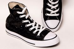 Starlight Sequin Name Brand Canvas High Top Sneakers