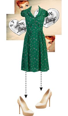 """""""Be Lucille Ball"""" by inskydiamonds ❤ liked on Polyvore"""