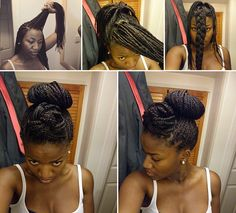 Miraculous Updo Box Plaits And Extensions On Pinterest Hairstyles For Women Draintrainus