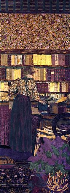 """Figures in an Interior: Choosing a Book"", 1896, by Edouard Vuillard (French, 1868-1940)"
