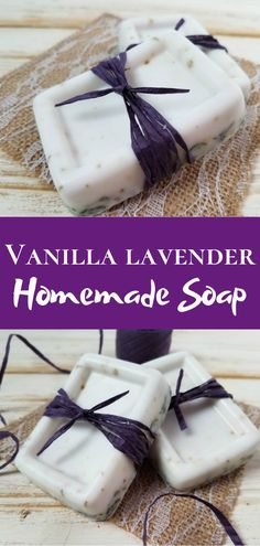 Lavender Vanilla Soap DIY If you're looking for lavender soap diy recipes, this lavender soap diy goat milk with vanilla fragrance will surely be a favorite lavender soap diy easy Handmade Soap Recipes, Soap Making Recipes, Handmade Soaps, Diy Soap Easy, Diy Soaps, Goat Milk Recipes, Homemade Soap Bars, Soap Melt And Pour, Lavender Soap