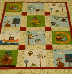 Hooty Hoot crib quilt for Baby or Toddler