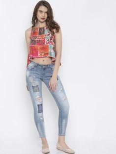 Buy Deal Jeans Blue Skinny Fit Jeans - Jeans for Women | Myntra