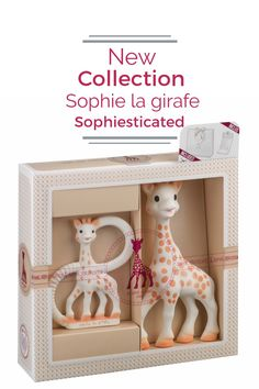 The NEW Sophiesticated collection is the perfect gift! Each set includes a gift bag and card!This is the Birth Set including Sophie la girafe and the so'pure teether!