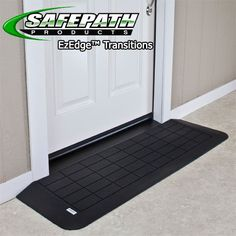 The EZ Edge™ Transition Wheelchair Ramp is an easy solution to solve your Threshold problems! These EZ Edge Threshold ramps easily fit in front of your door or any other vertical barrier you might have. These recycled rubber ramps help you effortless