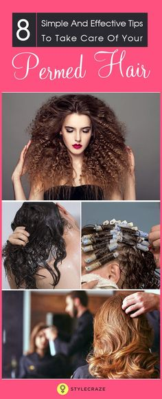 In my previous article I had discussed about different types of perms. In today's article I will give you tips on hair care for permed hair. Permanent wave or most commonly known as perm is a type of hair style which involves the use of chemicals to break and reform the bonds of the hair.